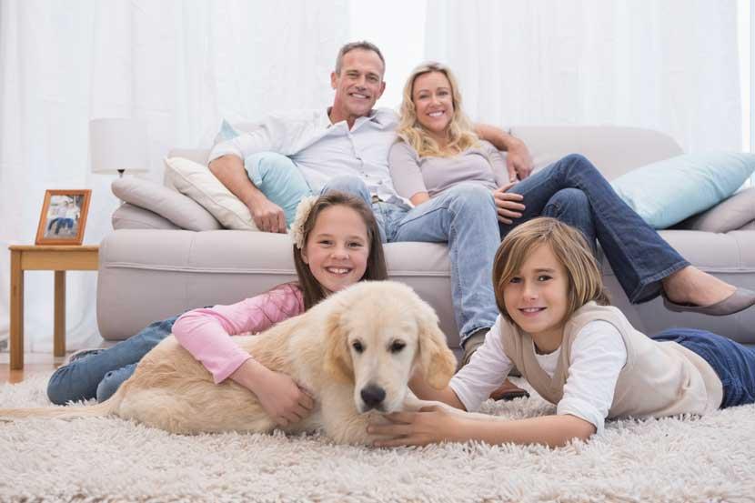 Familia tranquila por las garantías adicionales a la fianza en el alquiler
